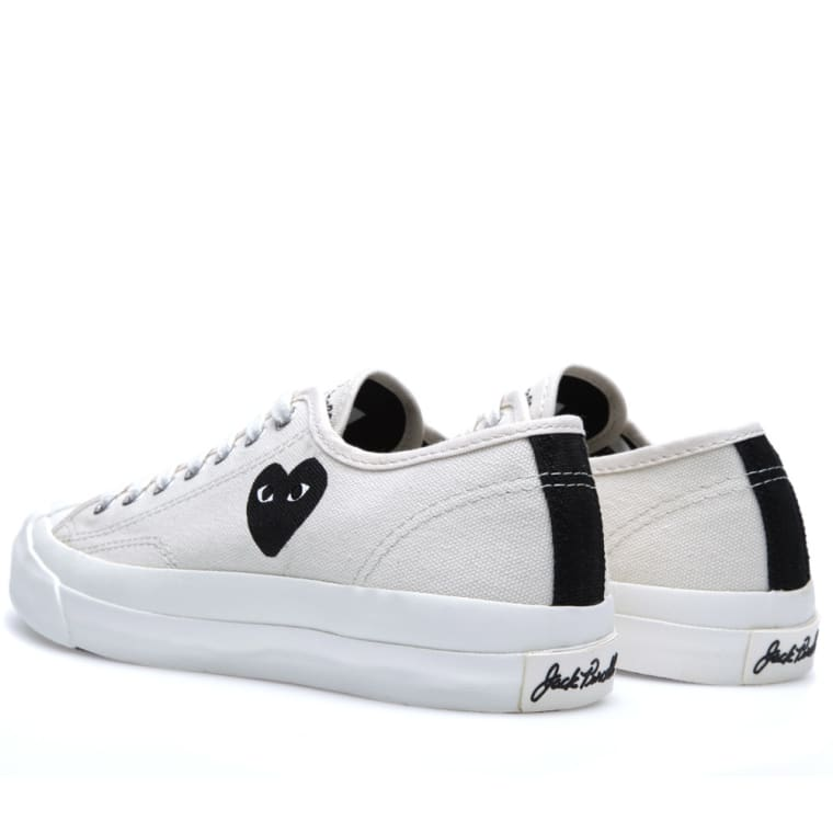 44c0b8b3c5c5 Comme des Garcons Play x Converse Jack Purcell Ox (White   Black)