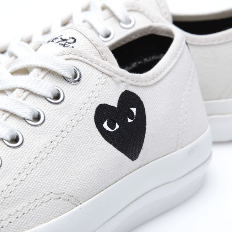 81f1649fb6e3 Comme des Garcons Play x Converse Jack Purcell Ox (White   Black)