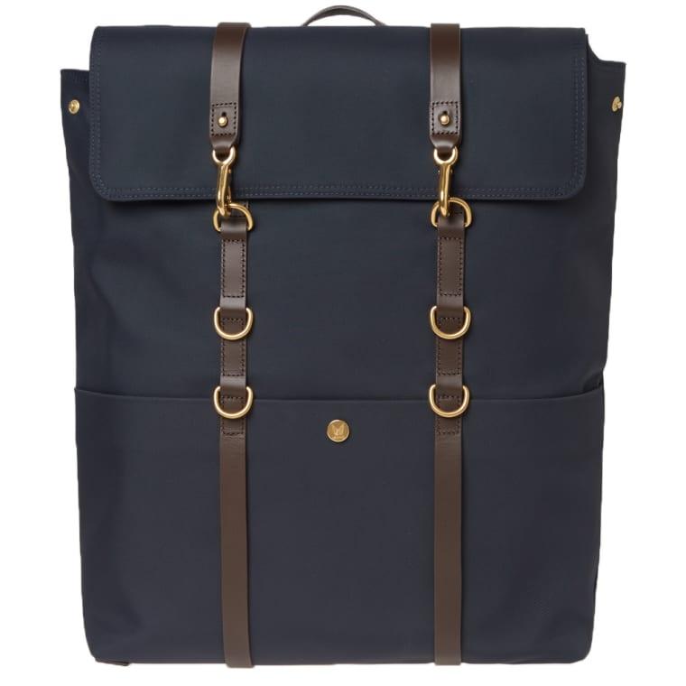 Mismo Backpack Navy Dark Brown 1