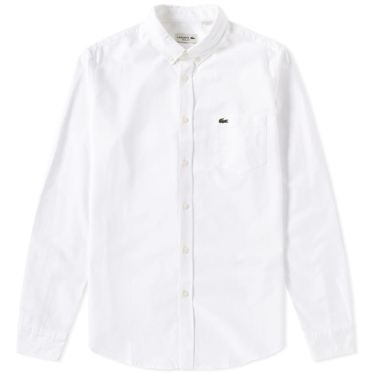 Lacoste Button Down Oxford Shirt (White) | END.