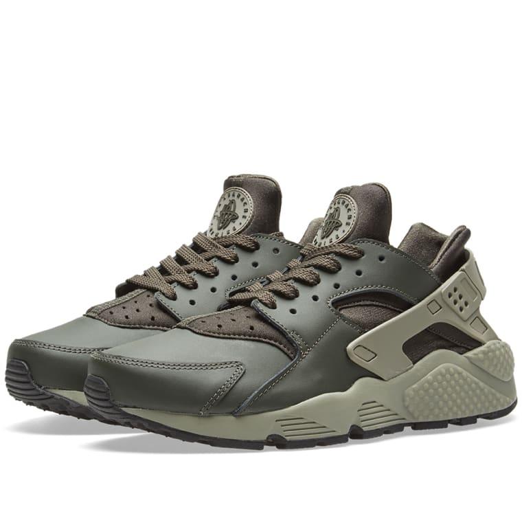 Nike Air Huarache Run Sequoia, Dark Stucco \u0026 Black 1