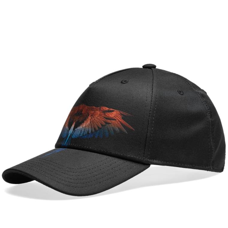 Marcelo Burlon Starter Wings Cap (Black   Orange)  950d57259e6