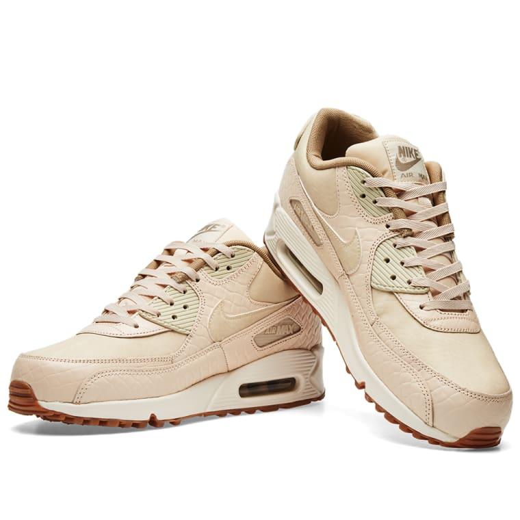 quite nice 0da4f c9198 Nike Air Max 90 Premium Oatmeal Sail Khaki Oatmeal Womens Shoes