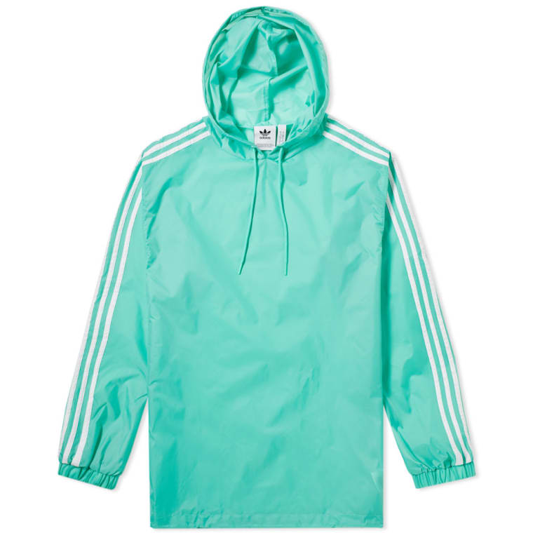 Adidas Poncho Windbreaker Hi Res Green White End