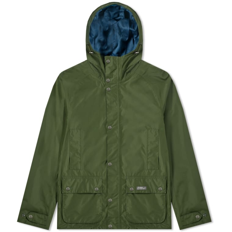 BARBOUR CAMBER HOODED JACKET RIFLE GREEN