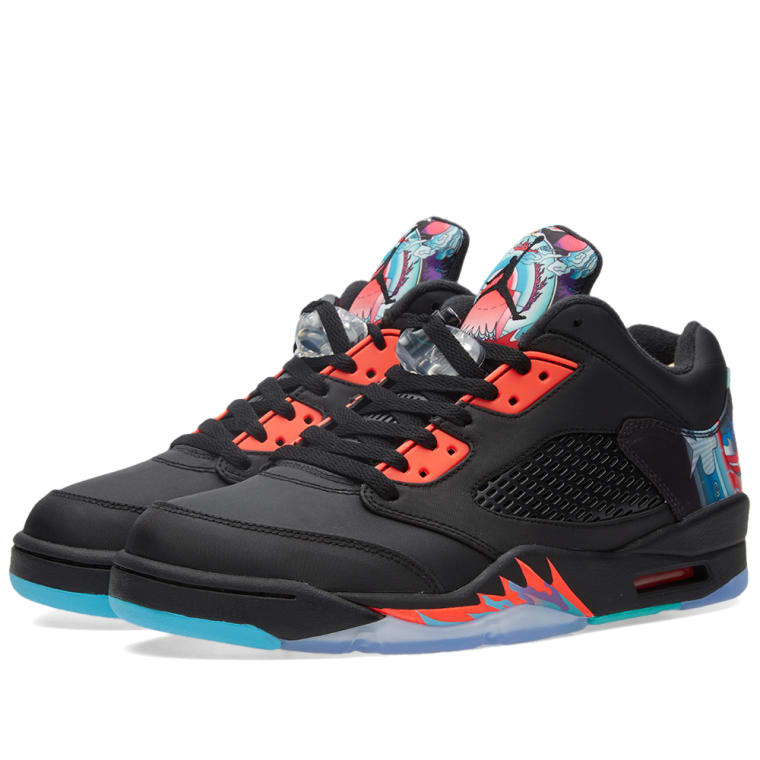 new styles b4a83 ca071 ... discount code for nike air jordan 5 retro low chinese new year black  bright crimson 1