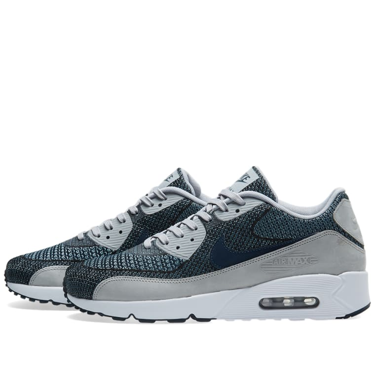 hot sales ef3ce f7ec4 ... ireland nike air max 90 ultra 2.0 jacquard br armory navy wolf grey  white 2 8cd04