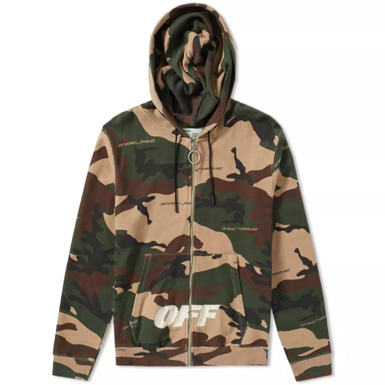 Off White Camo Zip Hoody All Over Green End