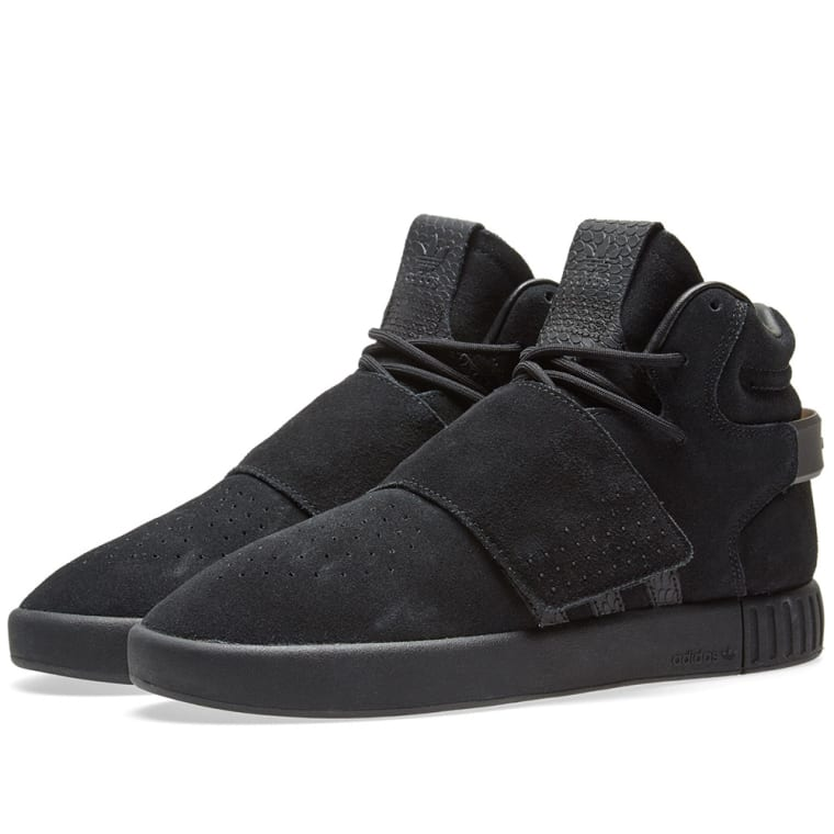$100 Adidas Men Tubular Invader gray onix black S81796