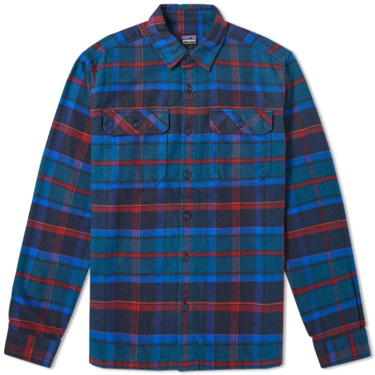 patagonia fjord flannel shirt big sur blue plaid end. Black Bedroom Furniture Sets. Home Design Ideas
