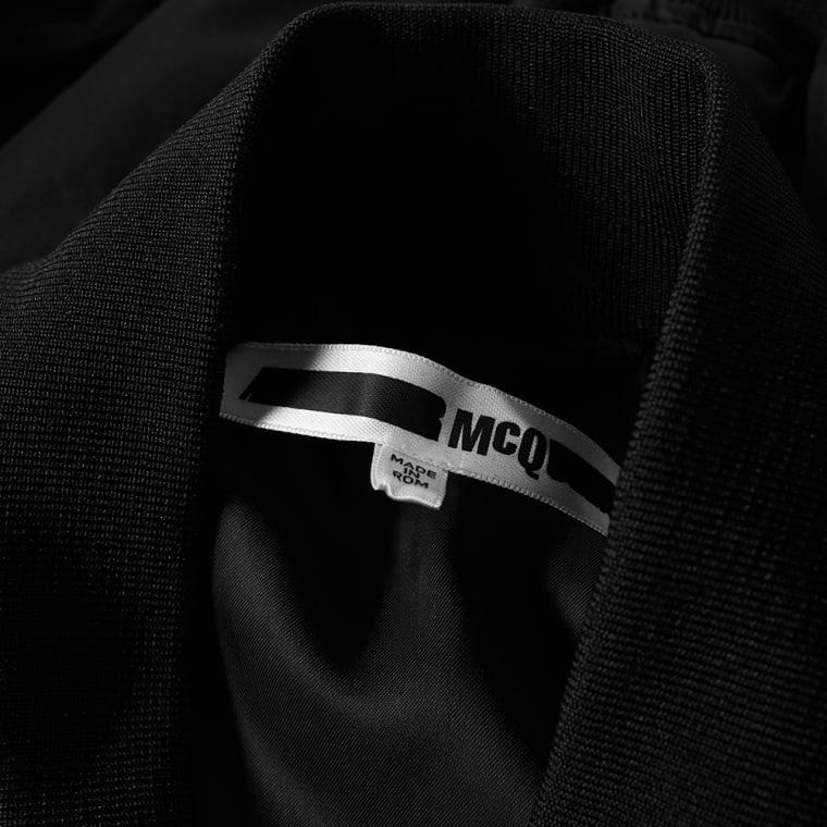 McQ by Alexander McQueen Cave MA-1 Jacket (Darkest Black)   END.