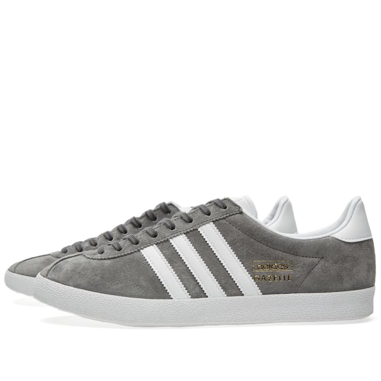 Adidas Gazelle OG. Sharp Grey \u0026 Running White. $89 $59. Plus Free Shipping