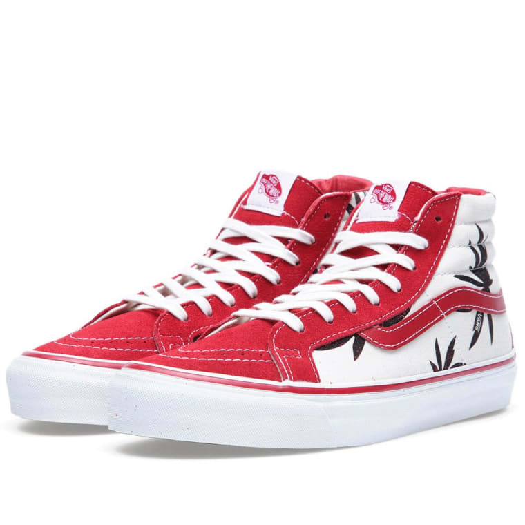 Vans Vault OG SK8-HI LX Palm Leaf (Black   Red)  72793a254