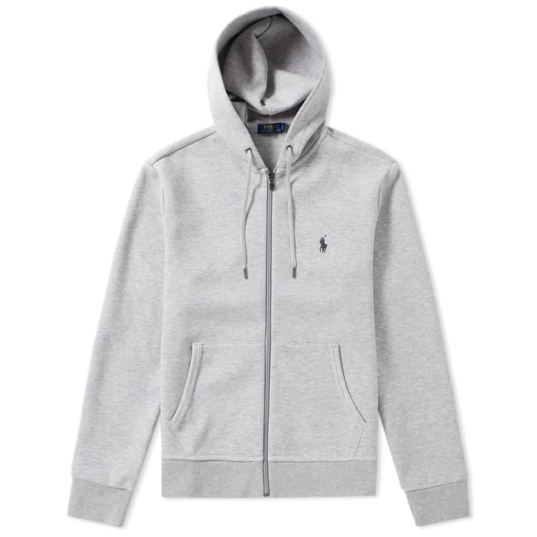 Polo Ralph Lauren Double Knit Tech Fleece Zip Hoody Spring Heather flat 1