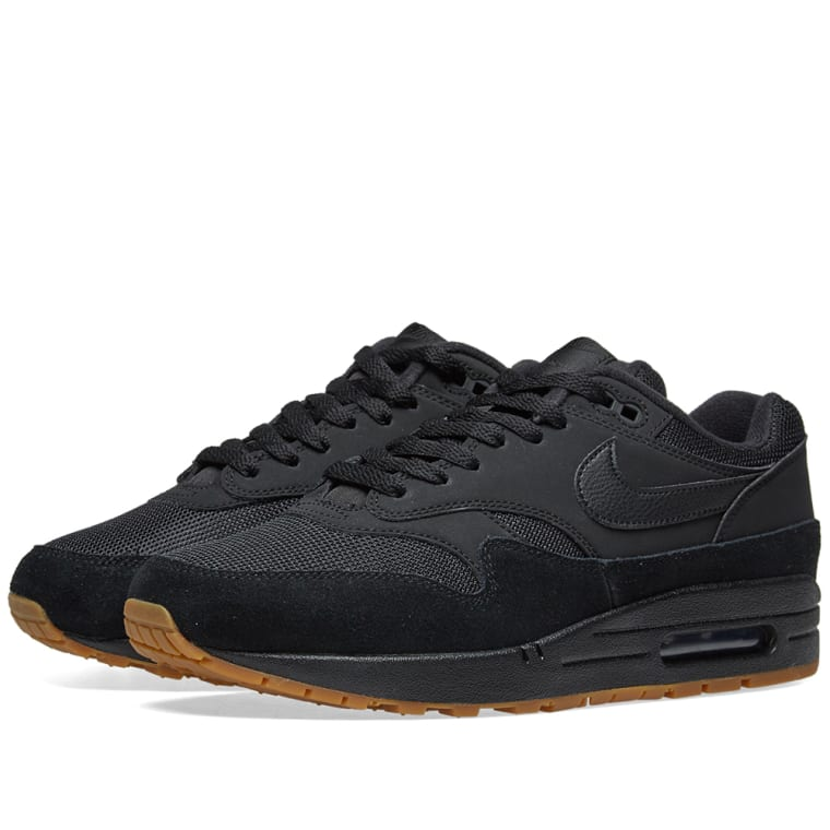 Nike Air Max 1 Black, Gum  Brown 1