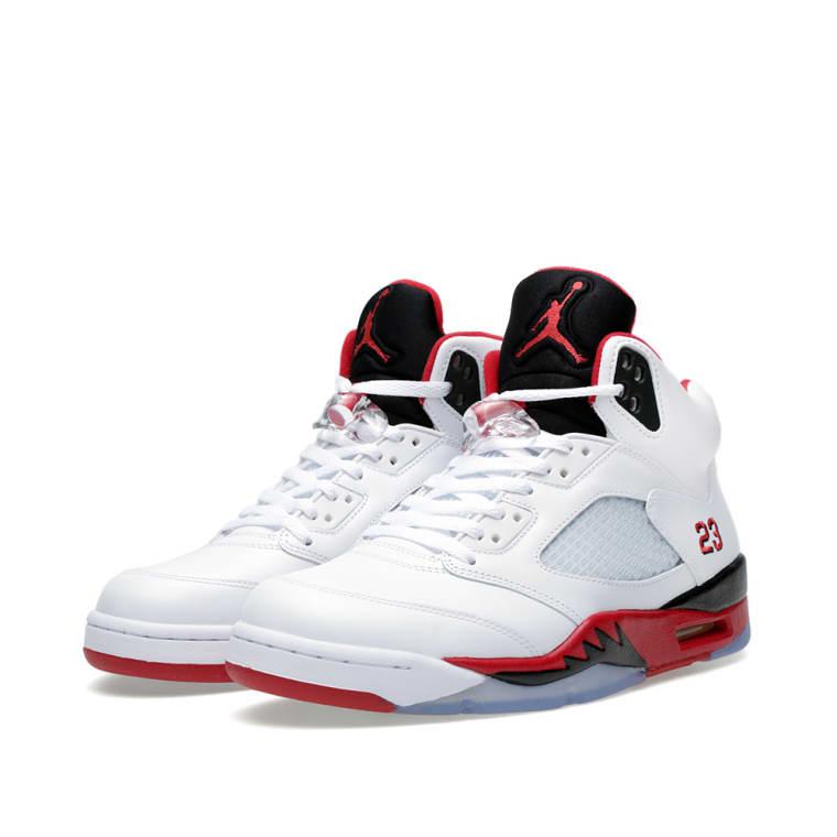 detailed look 6d14f 9d4b3 Nike Air Jordan V Retro  Fire Red  G.S. White   Fire Red 1