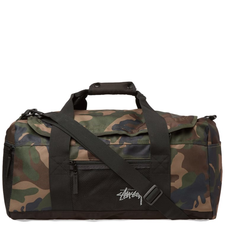 Stussy Stock Duffle Bag Woodland Camo 1