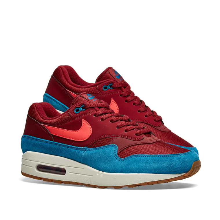 697a8903e ... Nike Air Max 1 Red, Green, White Brown ...