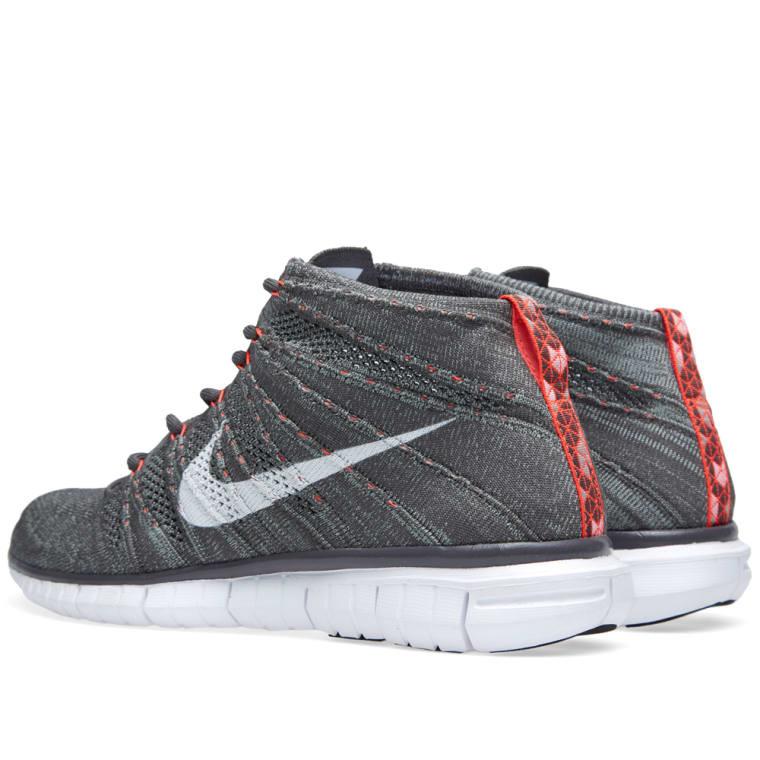 2762f5f71df4 Nike Free Flyknit Chukka (Midnight Fog   White)