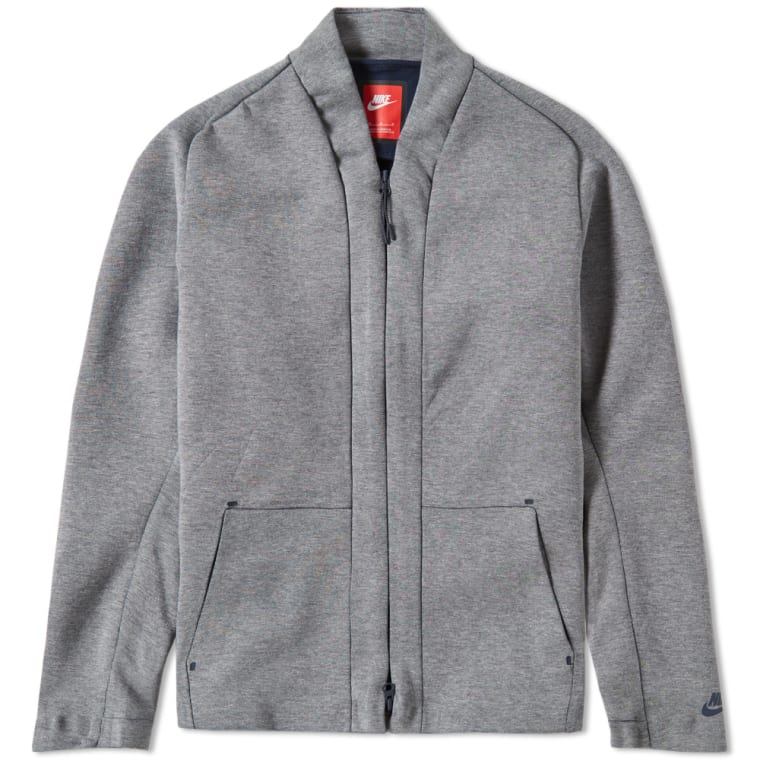 Nike Tech Fleece Cardigan (Carbon Heather & Obsidian) | END.