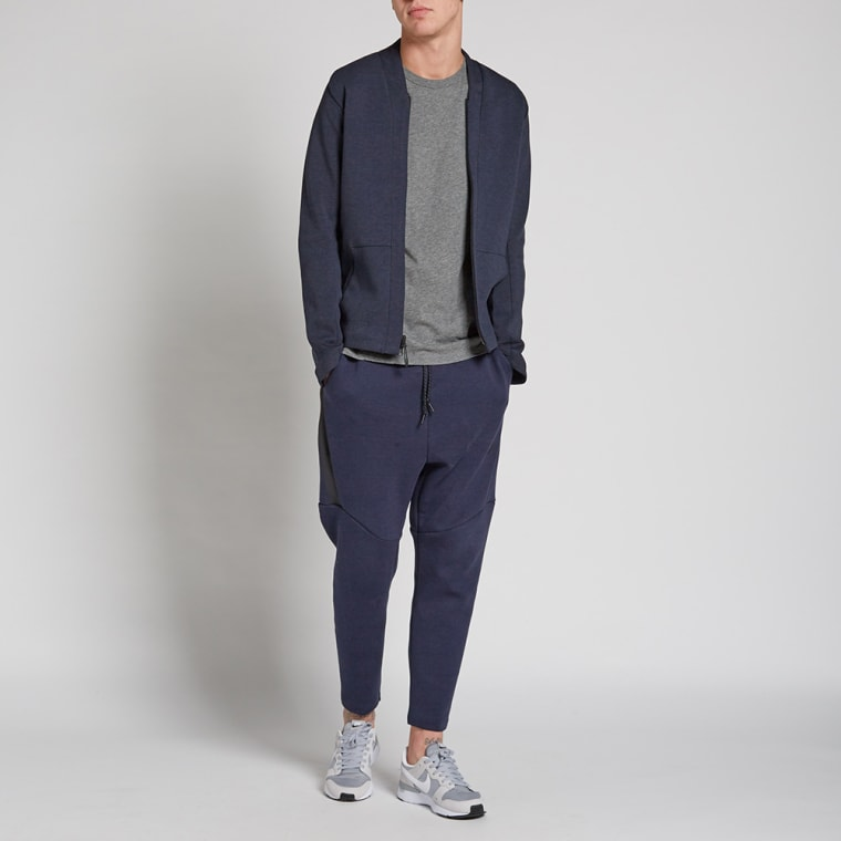 Nike Tech Fleece Cardigan (Obsidian Heather & Black) | END.