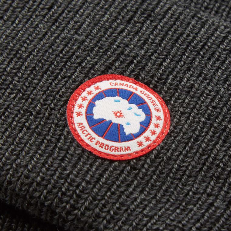 Canada Goose Merino Wool Watch Cap (Graphite)  6321df911d8