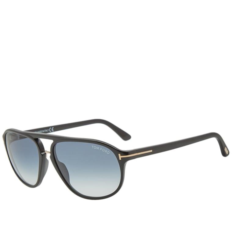 52a3e25b829 Tom Ford FT0447 Jacob Sunglasses (Shiny Black   Gradient Green)