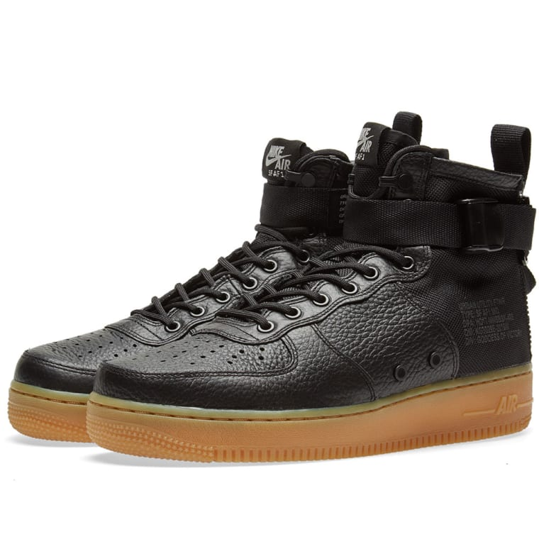 best service 0a087 55baf nike air force 1 black gum sole