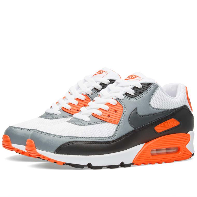 low price nike air max 90 white anthracite grey orange