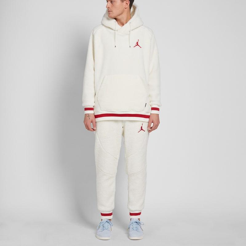 info for 68cfe c0e5b ... Nike Air Jordan Sportswear AJ 1 Fleece Hoody (Sail Gym Red) ...