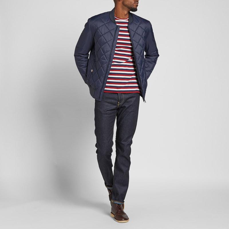 Barbour Steve McQueen Quilt Jacket (Navy) | END. : steve mcqueen quilted jacket - Adamdwight.com