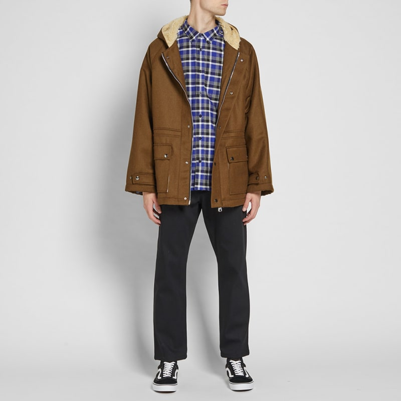 Gosha Rubchinskiy Wool Army Duffle Coat (Khaki) | END.