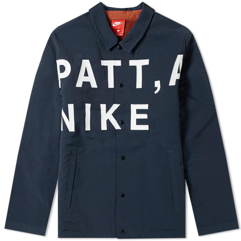Nike x Patta Coach Jacket Dark Obsidian fd3d7884a