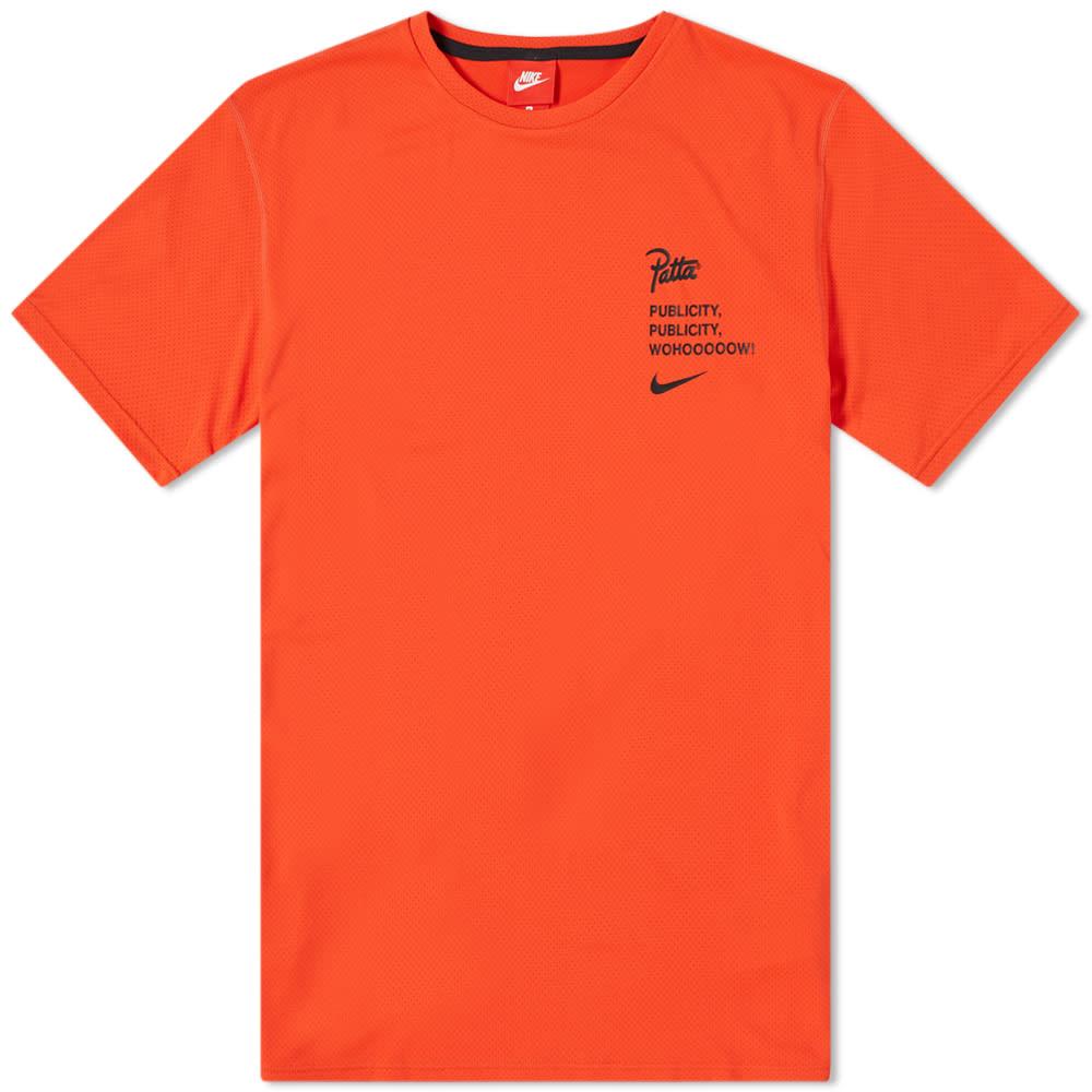 Nike x Patta Tee Habanero Red 1. Publicity TeeHabanero Red 32b0436fc