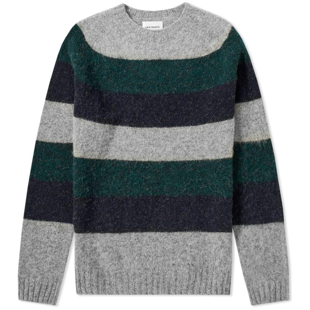 7c476815e6158b Norse Projects Birnir Wide Stripe Knit Spinnaker Green 1