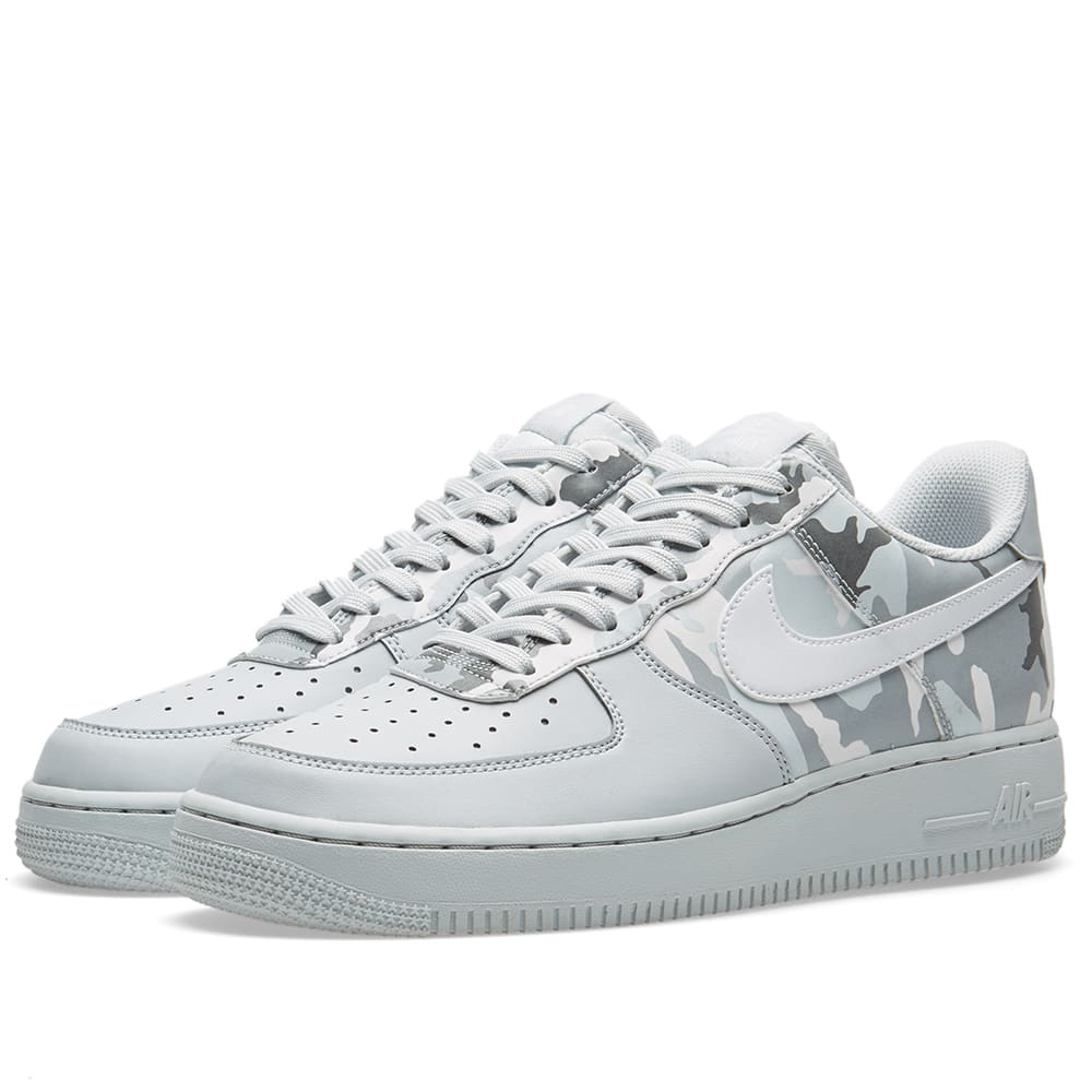 321c3d725260 Nike Aire Force 1  07 LV8 CamoPure Platinum White  Grey