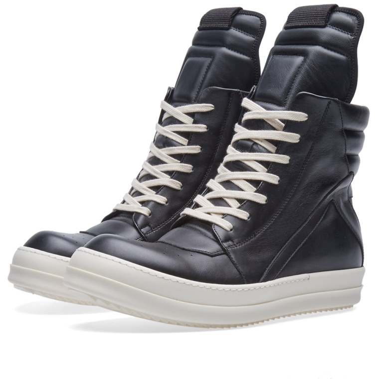 rick owens zip geobasket sneaker black bone end. Black Bedroom Furniture Sets. Home Design Ideas