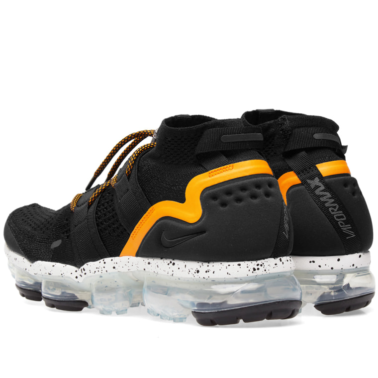 the best attitude 8f1b5 136be ... nike air vapormax flyknit utility black orange peel 3
