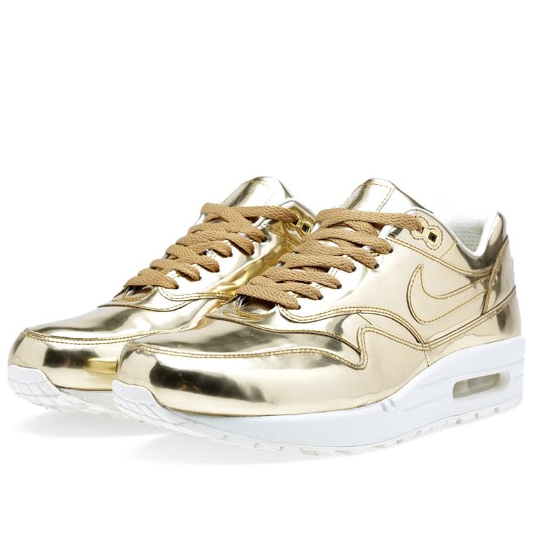 womens nike air max 1 sp metallic liquid gold