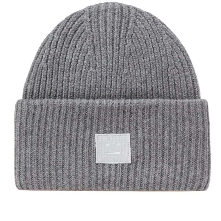 Pansy Face Beanie in Gray Acne Studios
