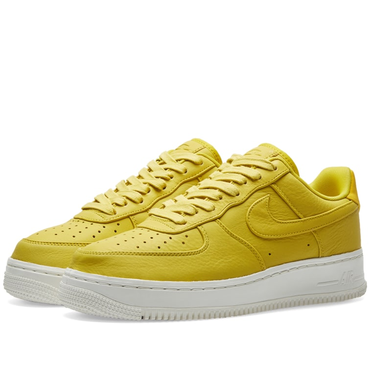 nikelab air force 1 low bright citron solid