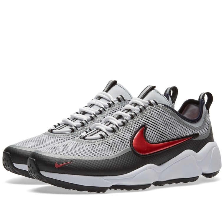Nike Zoom Spiridon Ultra Metallic Silver Desert Red Size 11.5 ( 876267-001) [N10f953]