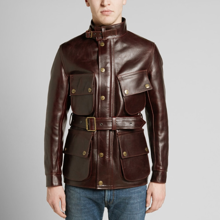 Barbour International x Triumph Perfo Leather Jacket ...