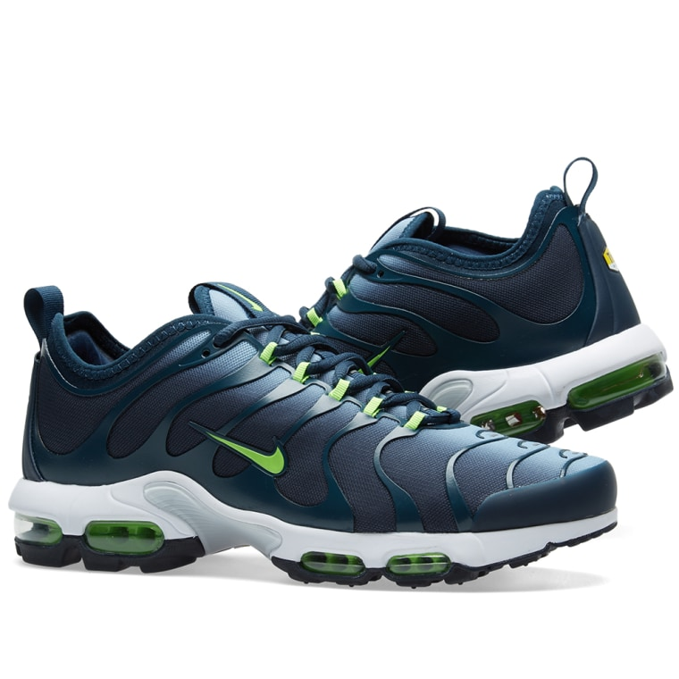 Nike Air Max Plus Tn Ultra Blue Grey Amp Electric Green End