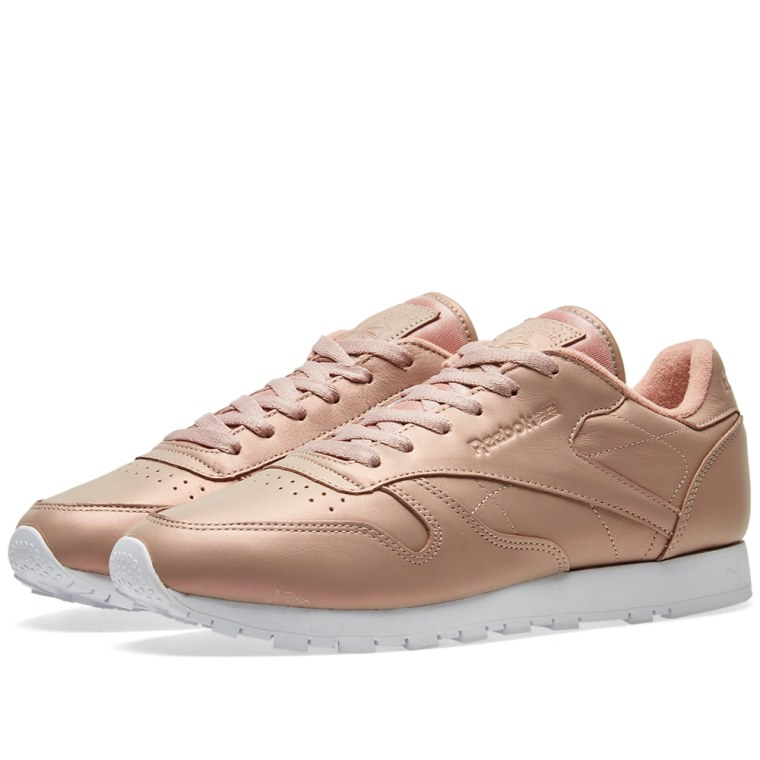 reebok women 39 s classic leather 39 pearlized 39 rose gold white end. Black Bedroom Furniture Sets. Home Design Ideas