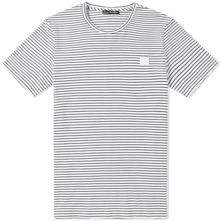 White and Black Nele Face T-Shirt Acne Studios