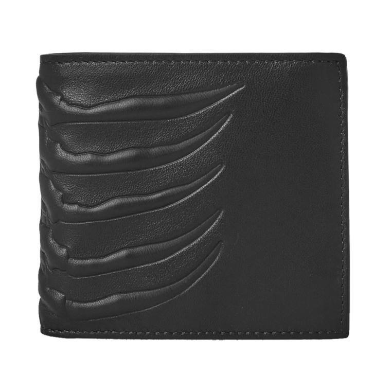 rib cage wallet - Black Alexander McQueen