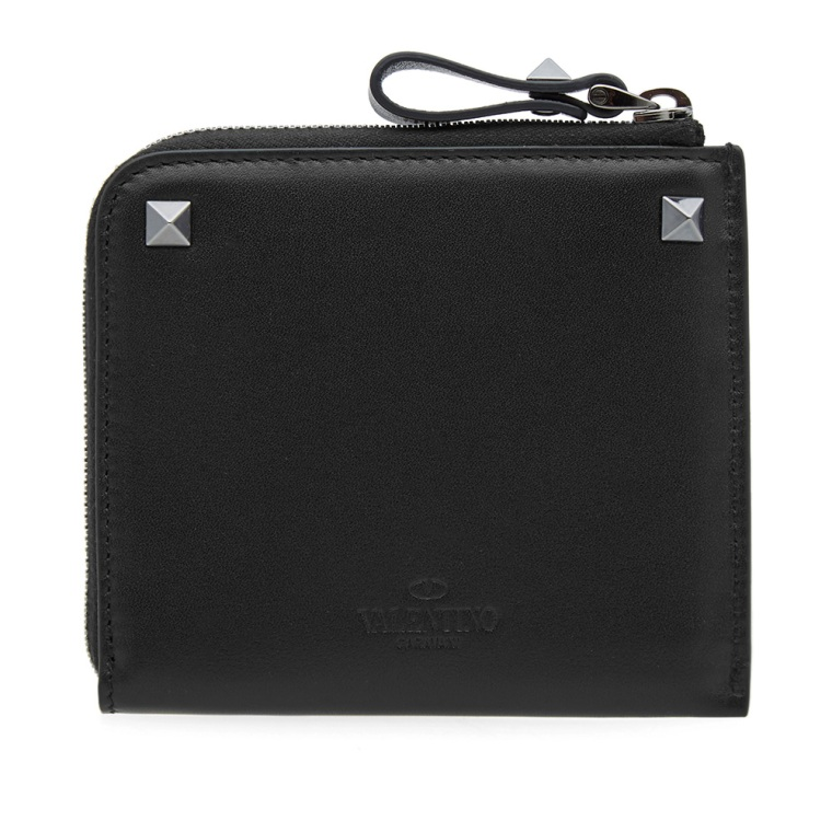 Valentino Rockstud zipped wallet
