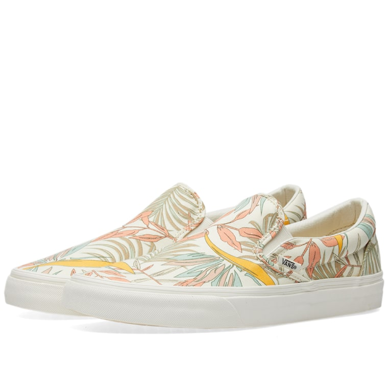 California Floral Classic Slippers marshmallow / marshmallowVans