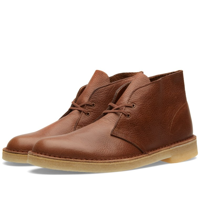 Clarks Originals Desert Boot Tan Tumbled Leather End